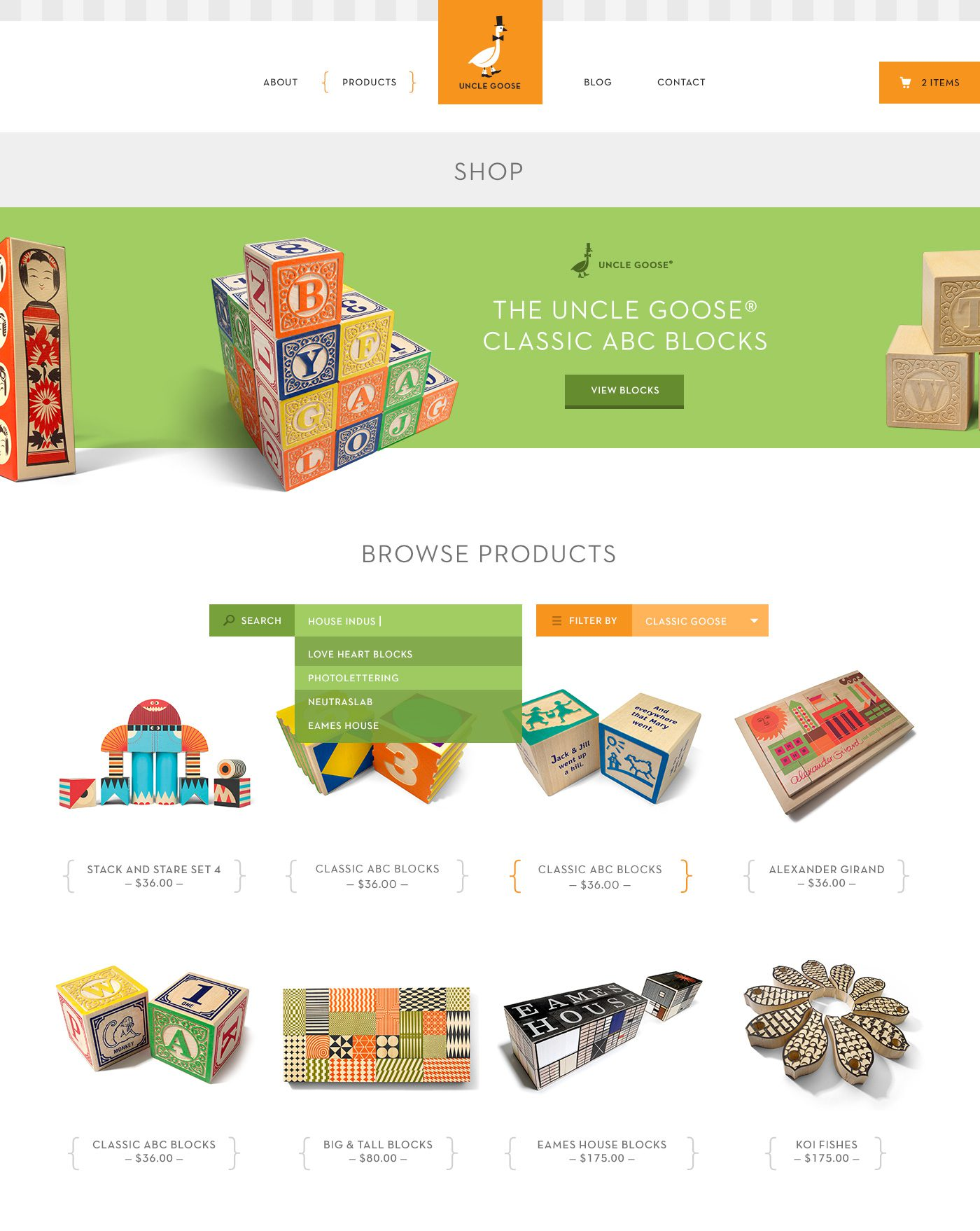 Uncle Goose Shop Designed by Bright Bright Great