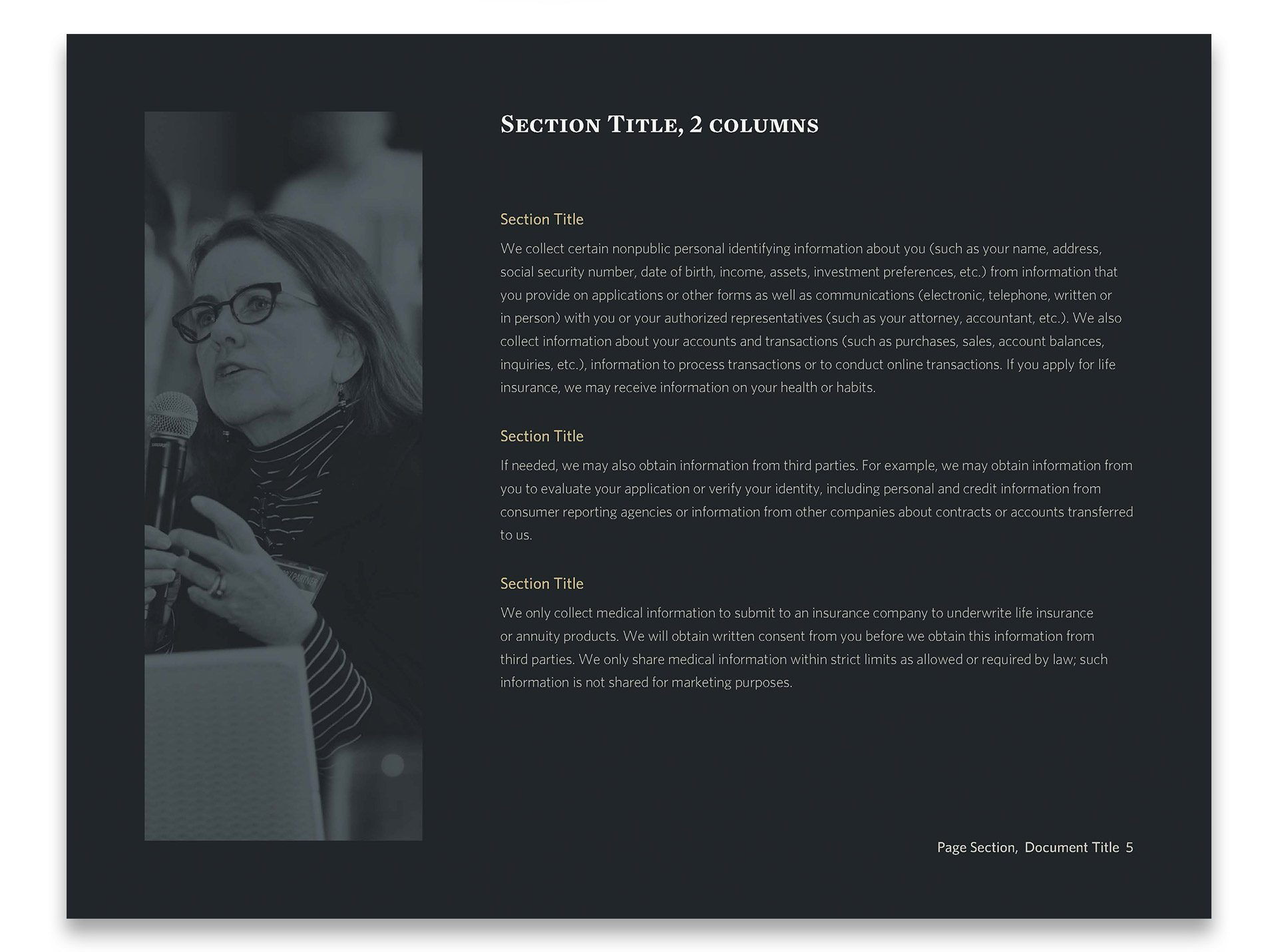 HighTower Booklet Page Template