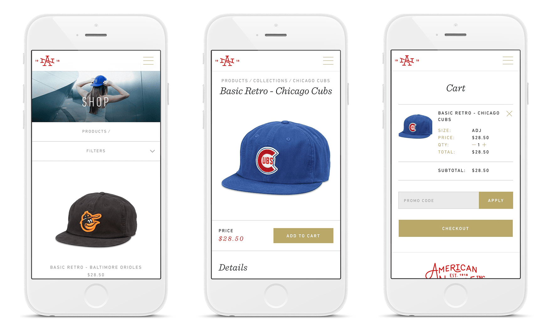 American Needle Mobile Experience