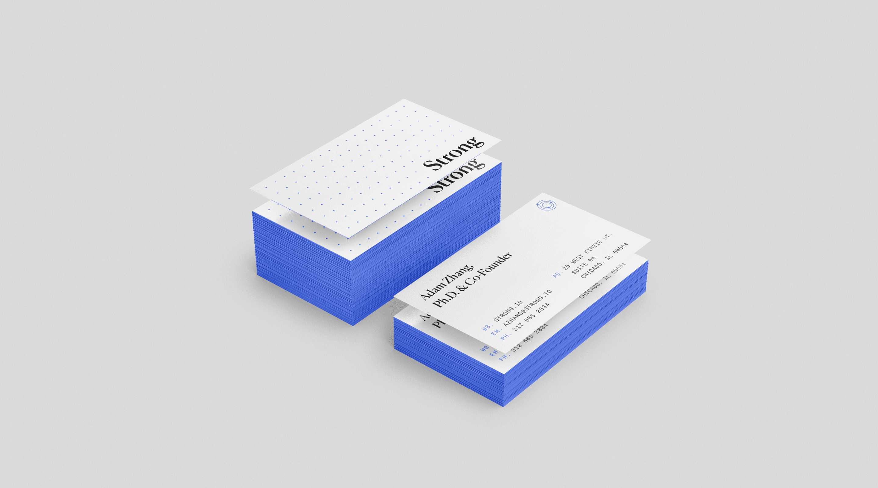 Strong Analytics Business Card Design