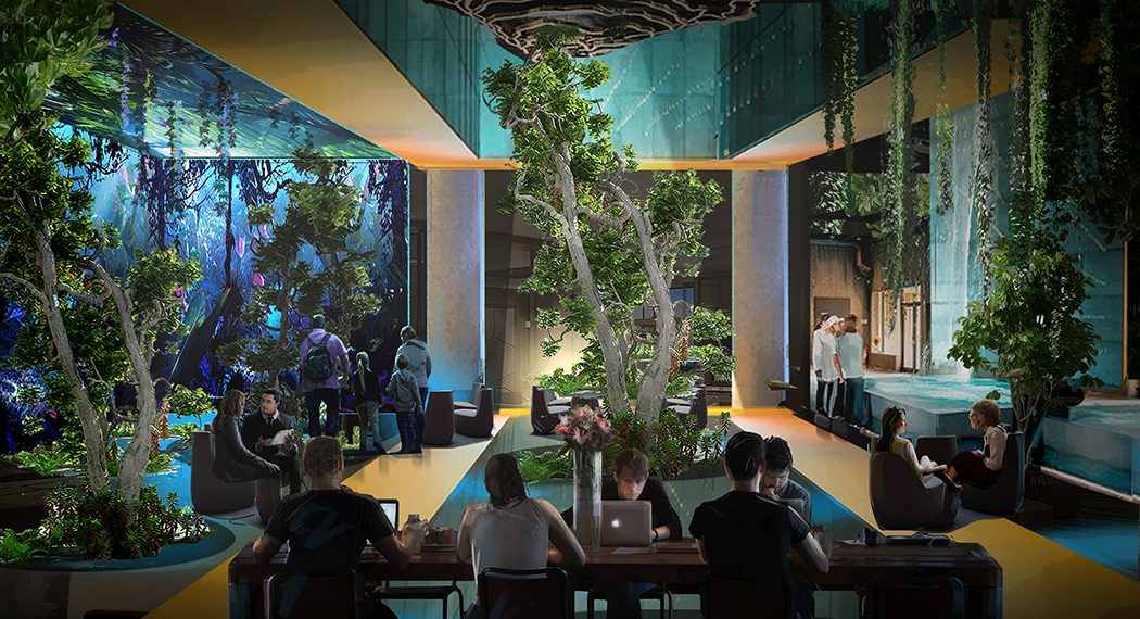 Outside In, Inside Out is like an over-scaled terrarium creating the convincing illusion and benefits of being in nature.